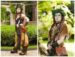 Faun costume, update by sombrefeline