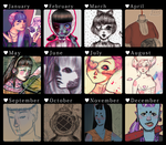 .: 2012 art summary :. by debie-chan