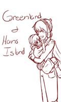 Greenland and Hans Island- Happy Sisters by AskHansIsland