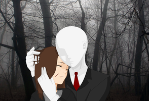 Slender man got me by Funnyanimelover