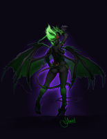 Fel-inspired Succubus by CaptainKato
