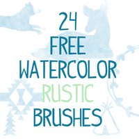 24 Watercolor Rustic Photoshop Brushes CS 7 by smyhls