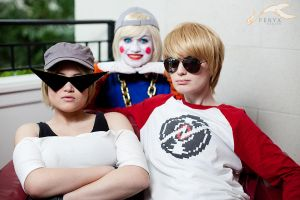 KatsuCon 2012 - Homestuck | Lil Cal, Sis, Dave by elysiagriffin