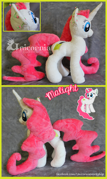 + OC plushie commission: Malight + by Unicornia-Workshop