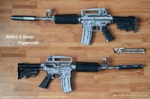 Crossfire M4A1-S Silver Papercraft 1 + DOWNLOAD by svanced