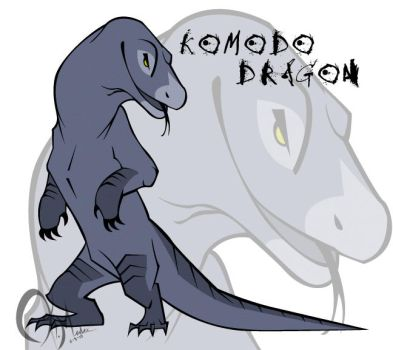 Concept art - Komodo Dragon 1 by KM-cowgirl