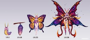 Butterfly Juvii evolution chart by PuddingzZ