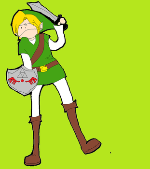 Link in LOLWTF Style. by Bakyumorion