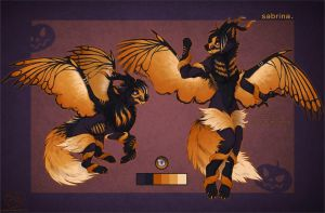 Sabrina: Halloween Winged wolf AUCTION CLOSED. by LeoNoy
