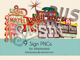 Sign Pngs: 02 by blackyaisa