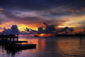 Sunset Key West by dapen