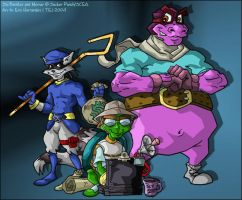 Sly Cooper and his posse by ElectricDawgy