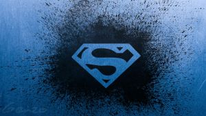 Superman logo wide wallpaper 2 by genzouniverse