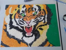 Tiger Rice Mosaic by PeaceWolfLegacy