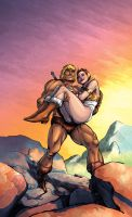 CerealGeek -  He-Man and Teela by oICEMANo