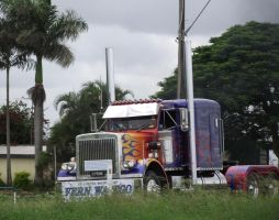 Optimus Prime on the road by RedtailFox