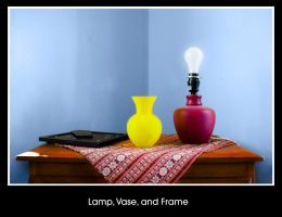 Lamp Vase and Frame by vinitlee