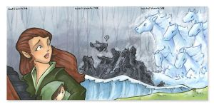 arwen 3-panel card set by katiecandraw