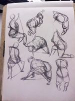 Life Drawing - Gestures by dichotomies