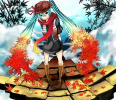 Autumn Miku by Eroji