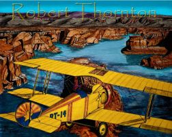 Biplane Over Powell by Haydaad
