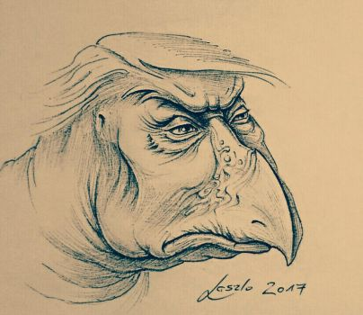 SkekUmp TRUMP DARK CRYSTAL SKEKSIS  by Skulpturen