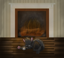 Getting Warm by the Fire by MidnightAlleyCat