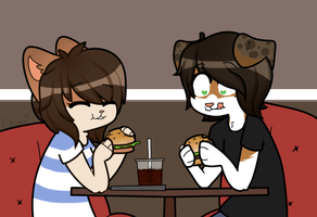 Burger Date YCH by QTipps