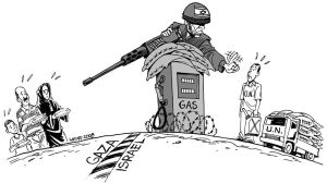 UN suspends aid to Gaza by Latuff2