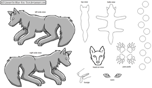 Free Wolf Ref Sheet by blue-fox-trot