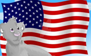 Im Am Proud To Be An American by Lufca