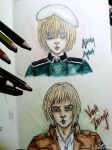 Crossover Armin Arlert and Vash Zwingli by TheEleventhMoonRose