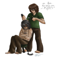 RA: Halt needs a hair cut by neodactylus
