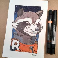 R is for Rocket by D-MAC