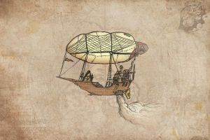 A little steampunk ship by Van-Oost