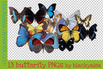 Butterfly PNGs by blackyaisa