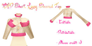 mmd  short, long sleeved  top by Tehrainbowllama