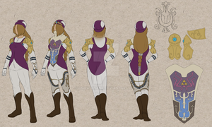 Commission: Hylian Sheik costume details by Know-Kname