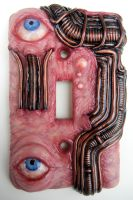 Biomechanical Eyes switch plate by dogzillalives