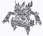 Emboar Tribal Tattoo by Deer-Head