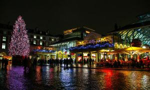 Covent Garden Christmas lights at the Apple Market by DelNg