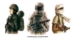 Command and Conquer Generals Soldiers by KaneNash