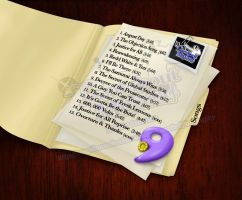 CD Case Back with Track List by Paz-Enai