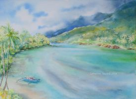 Le lagon de Huahine by Papercolour