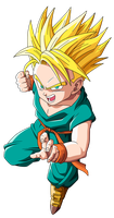 Kid Trunks SSJ by EmiyanSaiyan