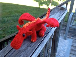 Clifford, The Crocheted Dragon by Mickeycricky
