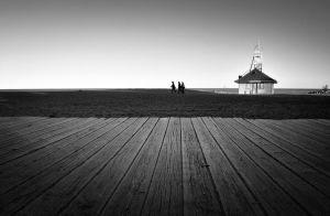Boardwalk and Beach by blink-click