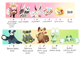 PKMNA: Squishes and More Blends Clutches (CLOSED) by Purrincely