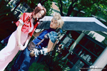 CLOUD AND AERITH by heydevildante