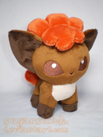 Pokemon: Vulpix Pokedoll Plush by sugarstitch